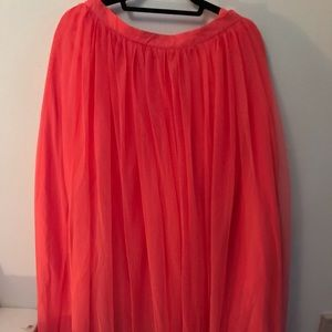 ASOS Pink Coral Floor Length Tulle Skirt NWT